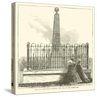 The Old Monument, Marking the Site of the Surrender, July 1863--Stretched Canvas Print