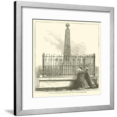 The Old Monument, Marking the Site of the Surrender, July 1863--Framed Giclee Print