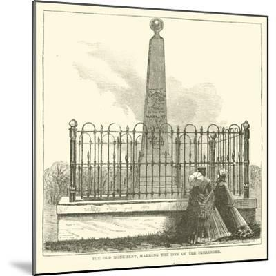 The Old Monument, Marking the Site of the Surrender, July 1863--Mounted Giclee Print