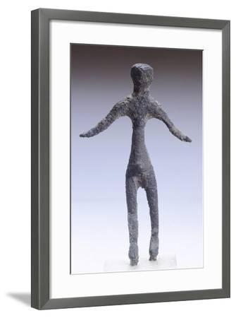 Male Figure Making an Offering, Bronze Statuette from Marzabotto--Framed Giclee Print