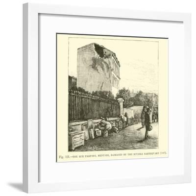 The Rue Partono, Mentone, Damaged by the Riviera Earthquake, 1887--Framed Giclee Print