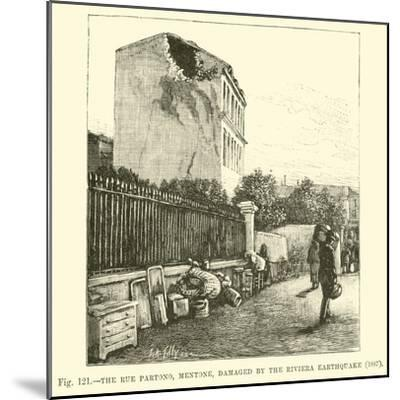 The Rue Partono, Mentone, Damaged by the Riviera Earthquake, 1887--Mounted Giclee Print