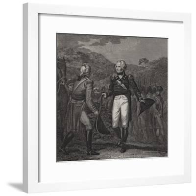 Surrender of General Burgoyne's Army at Saratoga, 1777--Framed Giclee Print