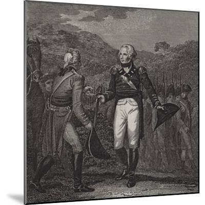 Surrender of General Burgoyne's Army at Saratoga, 1777--Mounted Giclee Print