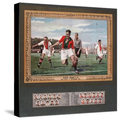 Depiction of a Match Between Ado Den Haag and Ajax, 1933--Stretched Canvas Print
