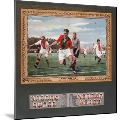 Depiction of a Match Between Ado Den Haag and Ajax, 1933--Mounted Giclee Print