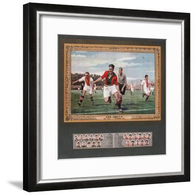 Depiction of a Match Between Ado Den Haag and Ajax, 1933--Framed Giclee Print