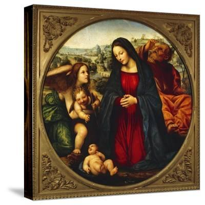 The Holy Family-Giovanni Antonio Bazzi-Stretched Canvas Print