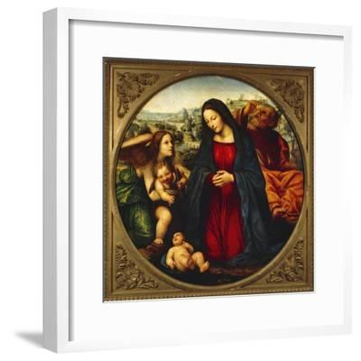 The Holy Family-Giovanni Antonio Bazzi-Framed Giclee Print