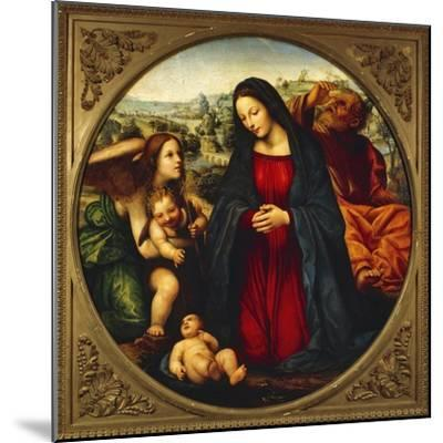 The Holy Family-Giovanni Antonio Bazzi-Mounted Giclee Print