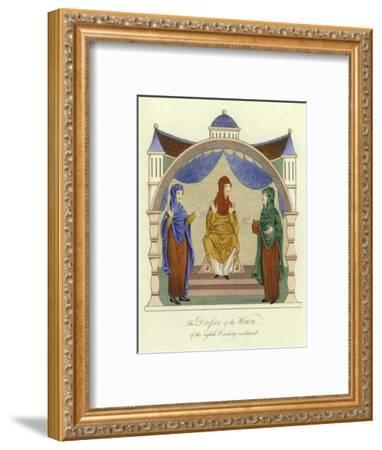 Dresses of the Anglo-Saxon Women of the 8th Century--Framed Giclee Print