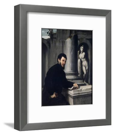 Portrait of Marco Antonio Savelli, 1543-1547-Giovanni Battista Moroni-Framed Giclee Print
