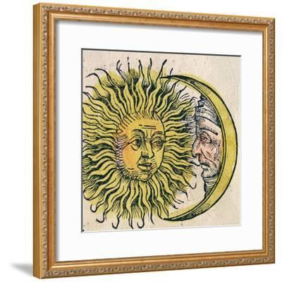 The Sun and Moon, Published in the Nuremberg Chronicle, 1493--Framed Giclee Print