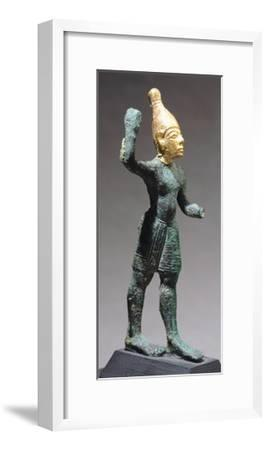 Statuette Depicting Standing God, Bronze and Gold Artefact from Ugarit--Framed Giclee Print