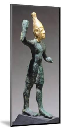 Statuette Depicting Standing God, Bronze and Gold Artefact from Ugarit--Mounted Giclee Print