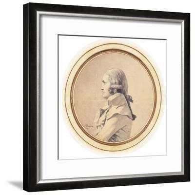Portrait of Joseph-Nicolas Barbeau Dubarran, Half-Length, His Arms Folded-Jacques-Louis David-Framed Giclee Print