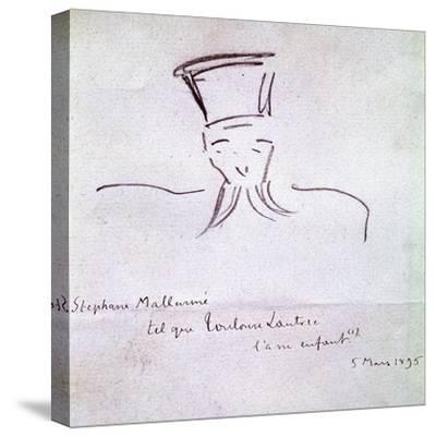 Stephane Mallarme, 1895-Henri de Toulouse-Lautrec-Stretched Canvas Print