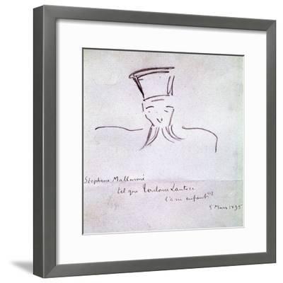 Stephane Mallarme, 1895-Henri de Toulouse-Lautrec-Framed Giclee Print