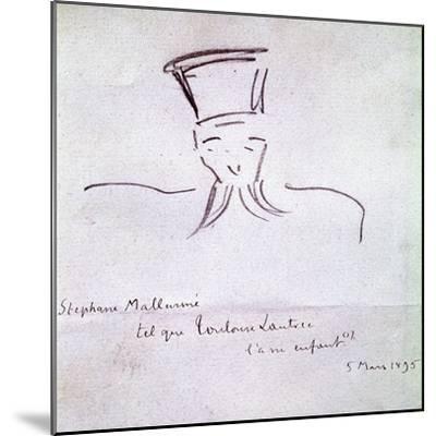 Stephane Mallarme, 1895-Henri de Toulouse-Lautrec-Mounted Giclee Print