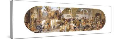 A Florentine Festival: the Arrival of the Provisions-Ricciardo Meacci-Stretched Canvas Print