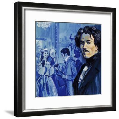 Eugene Delacroix Sent in His Painting and it Caused a Sensation in Paris-Luis Arcas Brauner-Framed Giclee Print