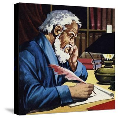 Burton Later Became a Writer and Translator of Note--Stretched Canvas Print