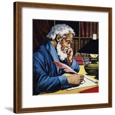 Burton Later Became a Writer and Translator of Note--Framed Giclee Print