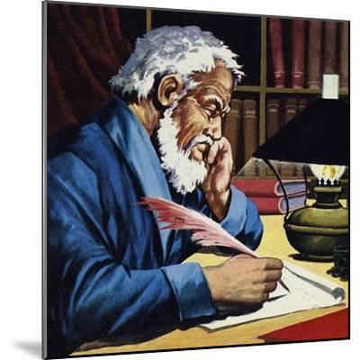 Burton Later Became a Writer and Translator of Note--Mounted Giclee Print