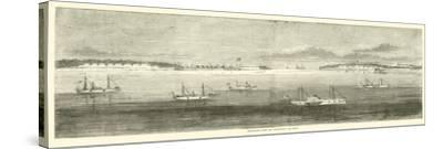 Blockading Fleet Off Wilmington, Old Inlet, October 1864--Stretched Canvas Print