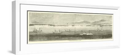 Blockading Fleet Off Wilmington, Old Inlet, October 1864--Framed Giclee Print