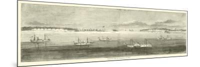 Blockading Fleet Off Wilmington, Old Inlet, October 1864--Mounted Giclee Print