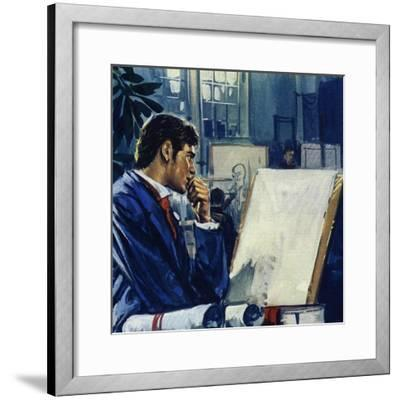 Manet Was Given a Choice by His Father: the Civil Service or the Navy-Luis Arcas Brauner-Framed Giclee Print