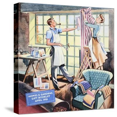 Cover of 'Homes and Gardens Gift Booklet', April 1955--Stretched Canvas Print