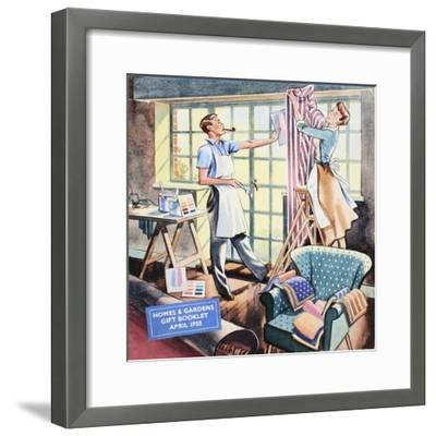 Cover of 'Homes and Gardens Gift Booklet', April 1955--Framed Giclee Print