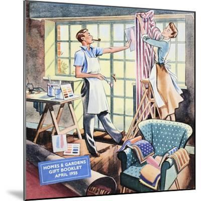 Cover of 'Homes and Gardens Gift Booklet', April 1955--Mounted Giclee Print