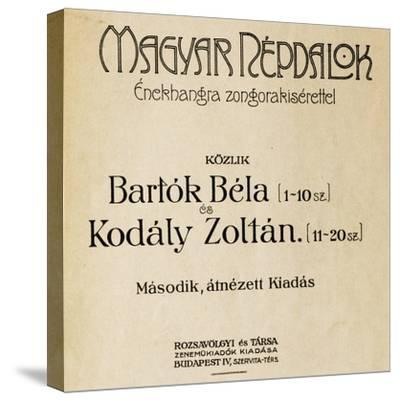Title Page of First Edition of Folk Songs-Zoltan Kodaly-Stretched Canvas Print
