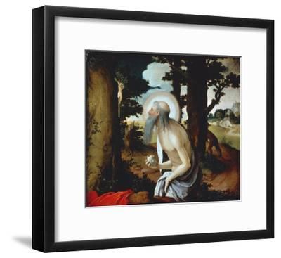 Penitent St Jerome, 1515-1520-Lucas van Leyden-Framed Giclee Print