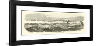 Landing of Banks's Expedition on Brazos Santiago, November 1863--Framed Giclee Print