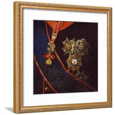 Portrait of Francis I of Bourbon, Detail-Giuseppe Cammarano-Framed Giclee Print