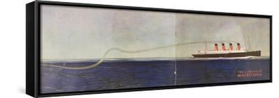 Cunard Line Promotional Brochure for 'Mauretania' C.1930--Framed Stretched Canvas Print