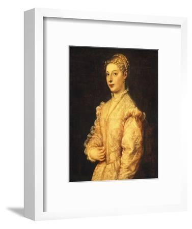 Portrait of Lavinia Vecellio or Young Woman-Titian (Tiziano Vecelli)-Framed Giclee Print
