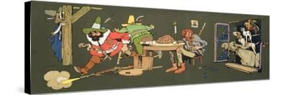 The Bremen Town Band, Scene from 'Grimm's Fairy Tales', C.1912--Stretched Canvas Print