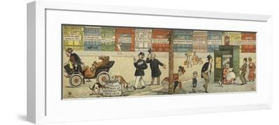 Street Scene with a Row of Closed Shops and a Closed Public Toilet--Framed Giclee Print