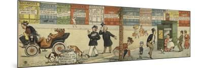 Street Scene with a Row of Closed Shops and a Closed Public Toilet--Mounted Giclee Print