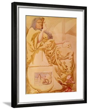 Sketch to Illustrate the Passions - Deceit or Duplicity, 1854-Richard Dadd-Framed Giclee Print