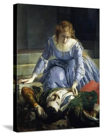Imelda De Lambertazzi by Her Lover's Corpse, 1864-Pacifico Buzio-Stretched Canvas Print