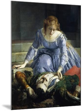 Imelda De Lambertazzi by Her Lover's Corpse, 1864-Pacifico Buzio-Mounted Giclee Print