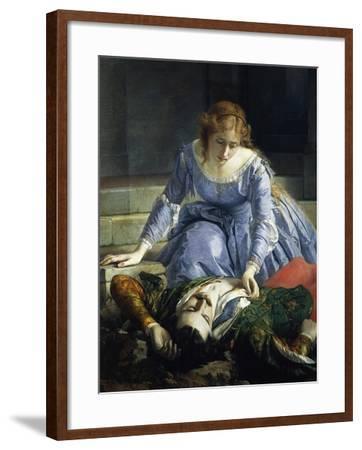 Imelda De Lambertazzi by Her Lover's Corpse, 1864-Pacifico Buzio-Framed Giclee Print