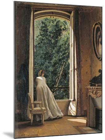 The Window Overlooking Apple Garden-Vito D'ancona-Mounted Giclee Print