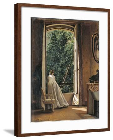 The Window Overlooking Apple Garden-Vito D'ancona-Framed Giclee Print